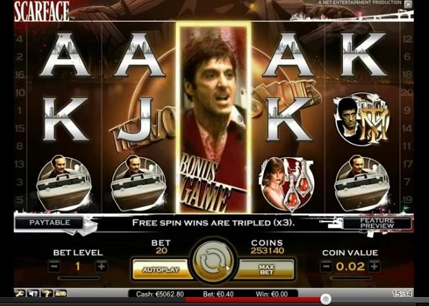 Al Pacino plays Tony Montana in Scarface